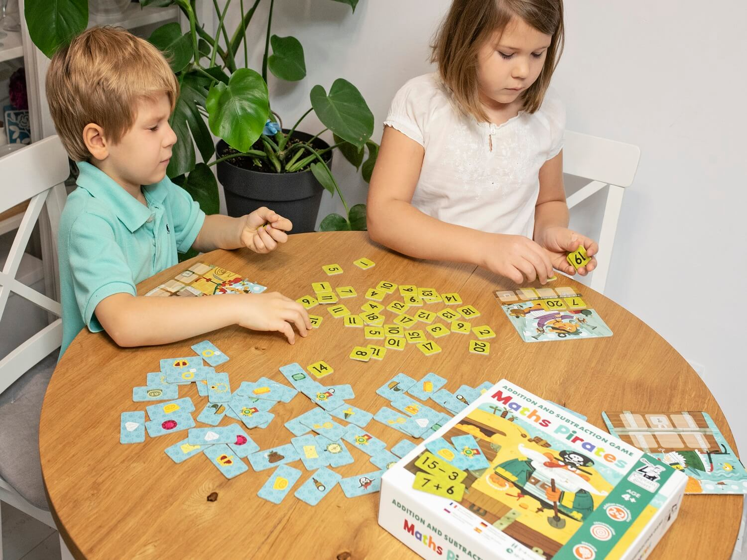 Captain Smart Math Pirates board game for kids