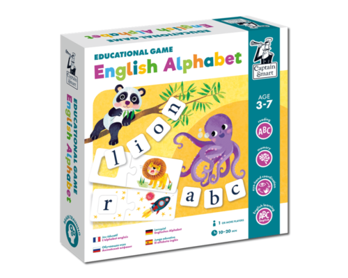 English Alphabet. Educational game. Captain Smart