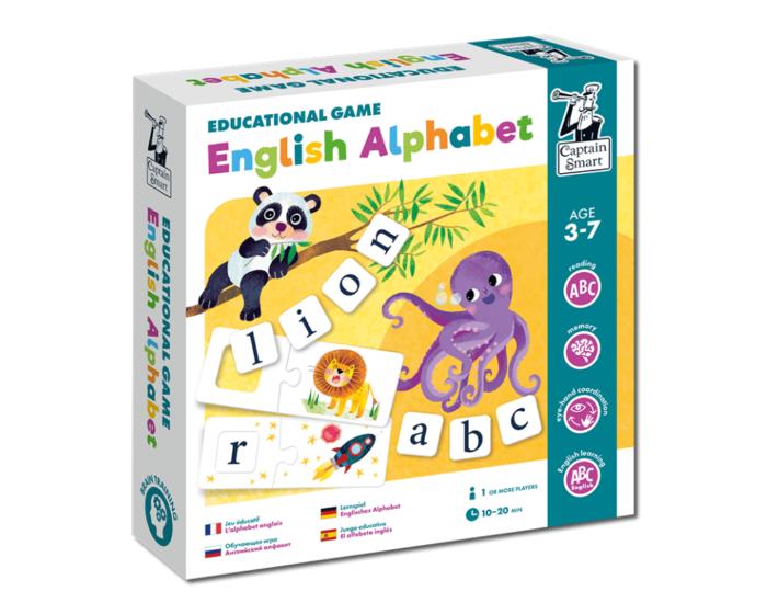 English Alphabet. Educational game. Captain Smart