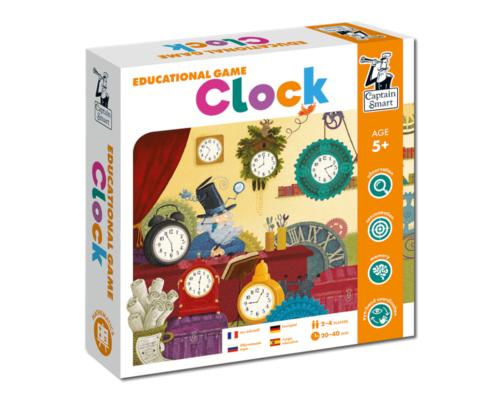 Clock. Educational Game. Captain Smart