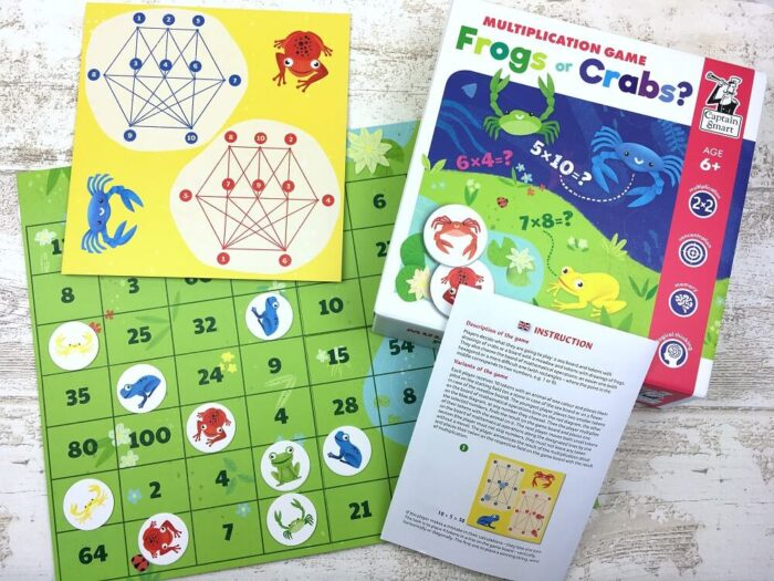 Frogs or Crabs? Multiplication Game. Captain Smart - game for children