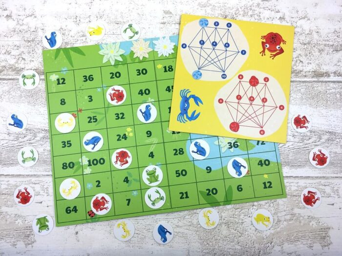 Frogs or Crabs? Multiplication Game. Captain Smart - game for kids
