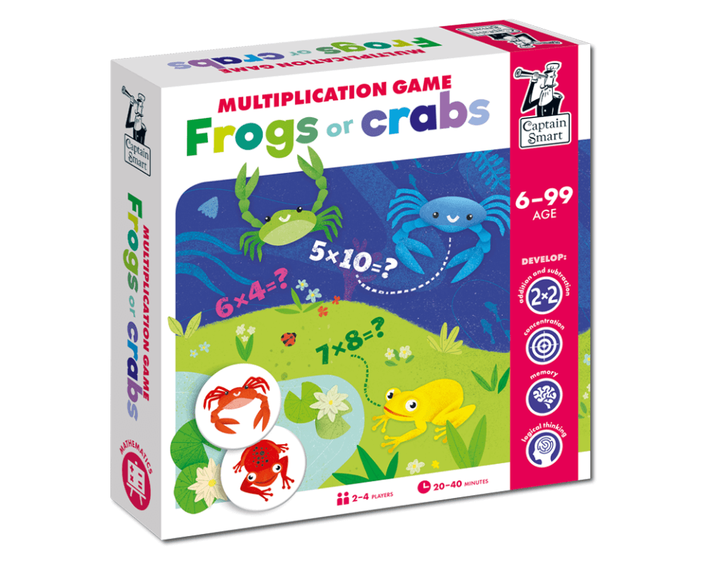 Frogs or Crabs? Multiplication Game. Captain Smart