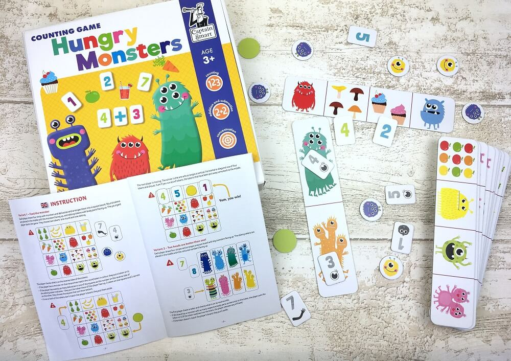 Hungry Monsters. Counting Game. Captain Smart - game for children