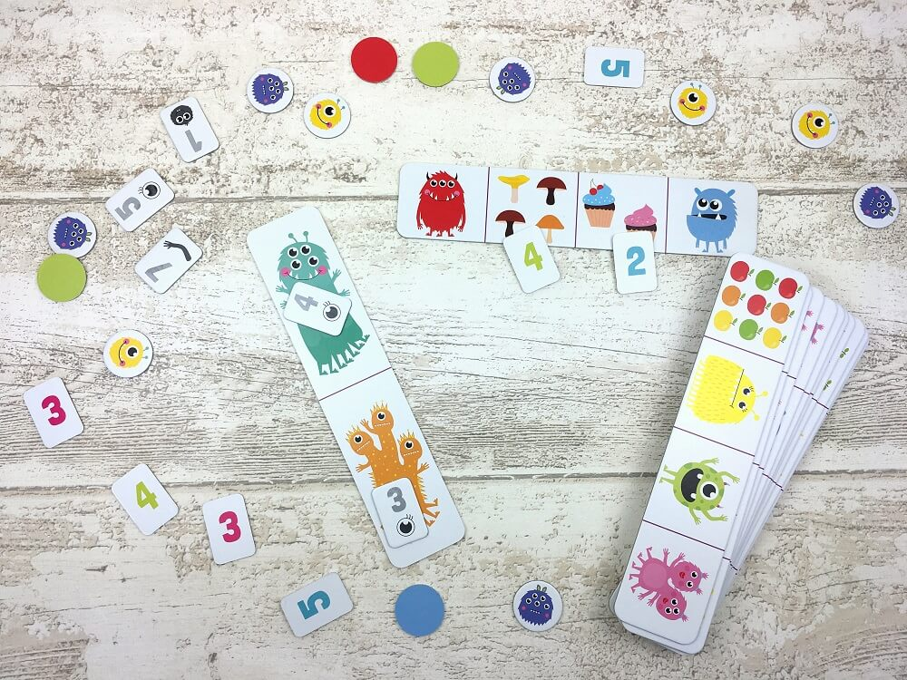 Hungry Monsters. Counting Game. Captain Smart - game for kids