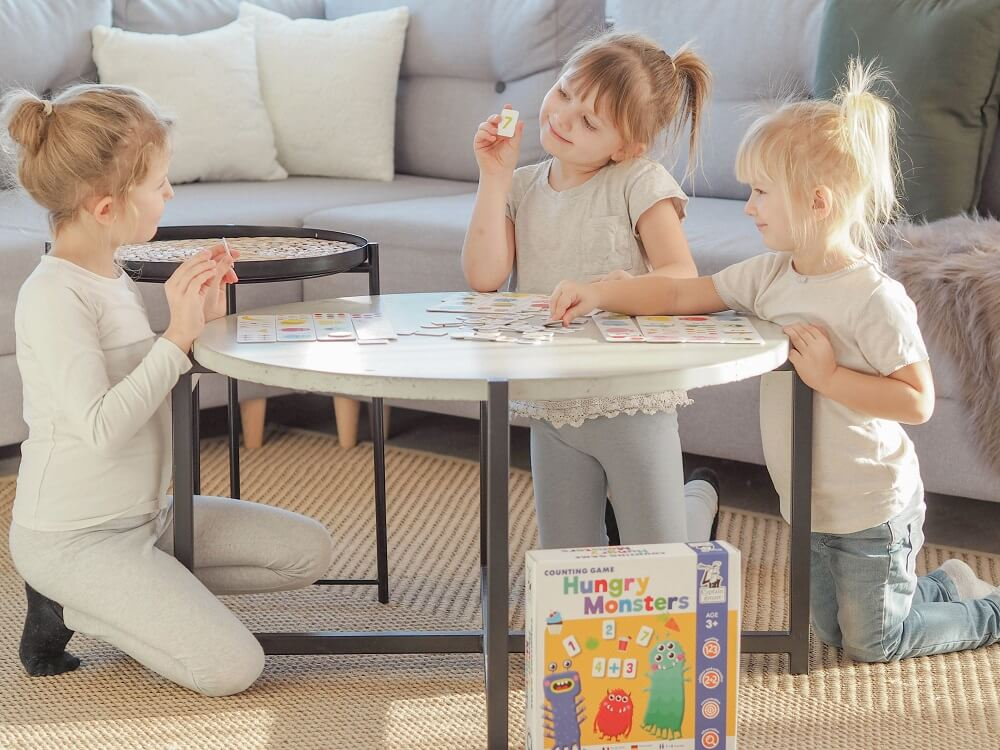 Hungry Monsters. Counting Game. Captain Smart - learning toy