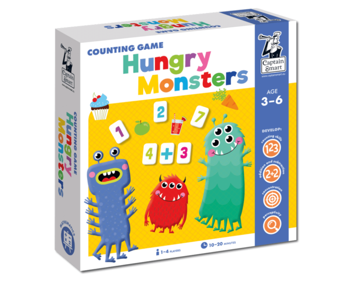 Hungry Monsters. Counting Game. Captain Smart