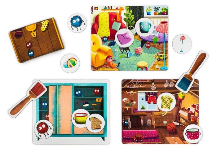 Let's Clean Up! Educational game. Captain Smart - game for children