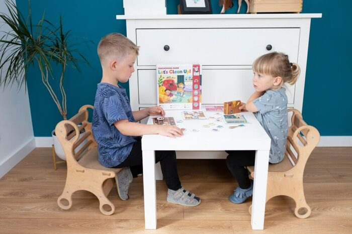 Let's Clean Up! Educational game. Captain Smart - family board game