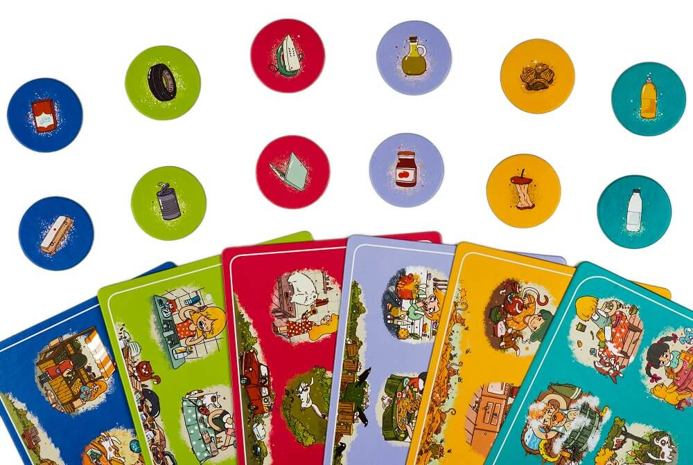 Lotto Less waste. Captain Smart - game for kids