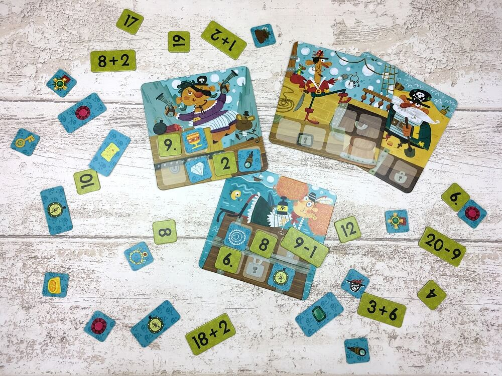 Maths Pirates. Addition and Subtraction Game. Captain Smart - game for children