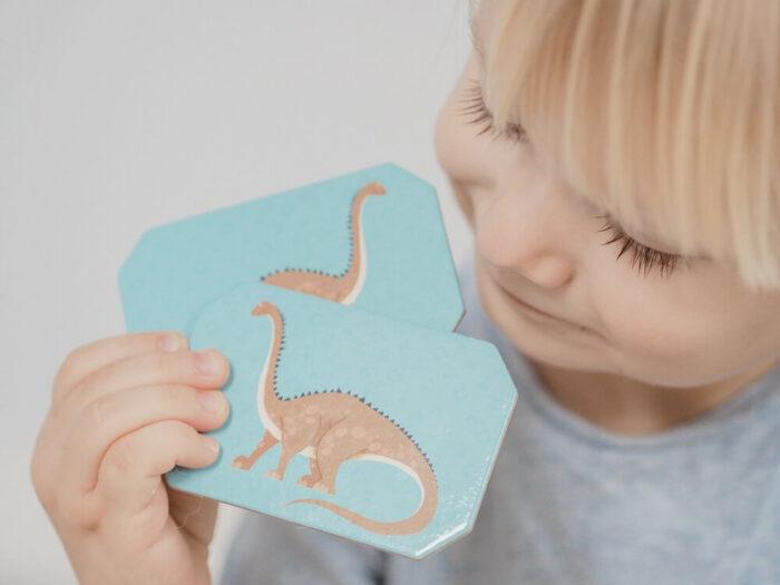 Memo Dinosaurs. Captain Smart - game for kids