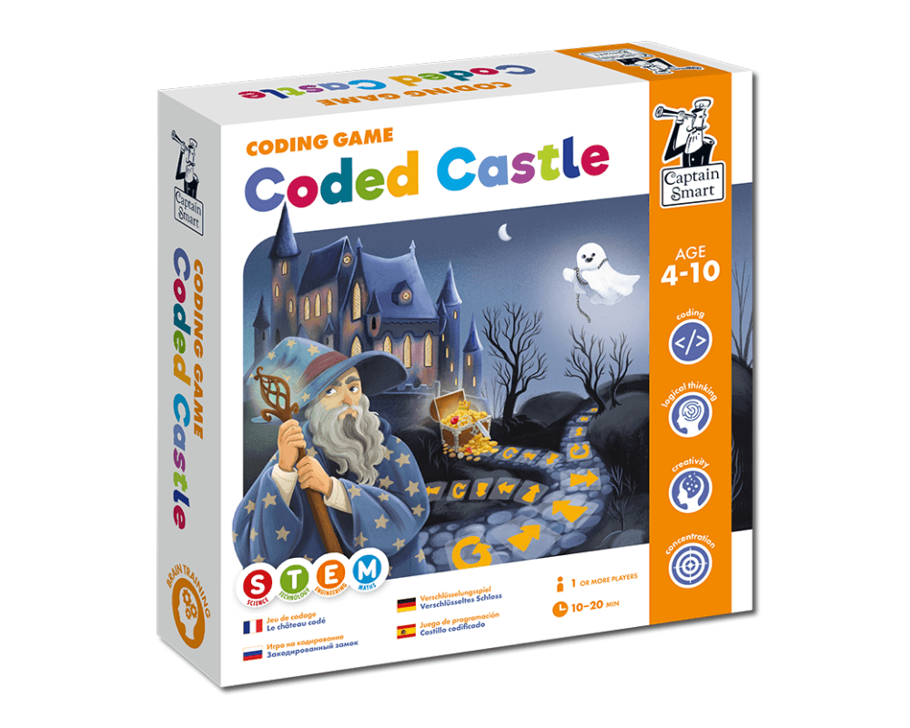 Coded Castle. Coding game. Captain Smart