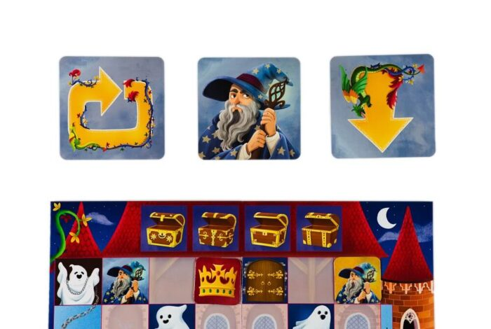 Coded Castle. Coding game. Captain Smart - game for children