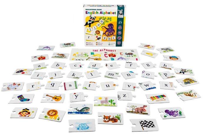 English Alphabet. Educational game. Captain Smart - game for children