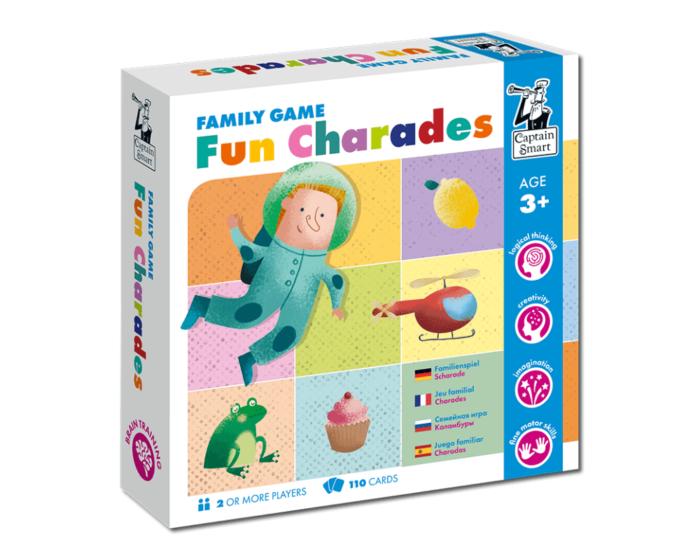 Fun Charades. Family game. Captain Smart