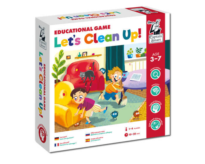 Let's Clean Up! Educational game. Captain Smart