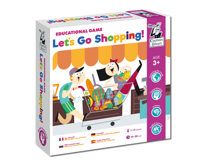 Let's Go Shopping! Educational game. Captain Smart
